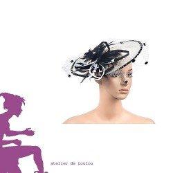 chapeau bibi | chapeau plume mariage | canotier mariage