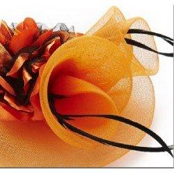 chapeau bibi orange | chapeau cérémonie mariage